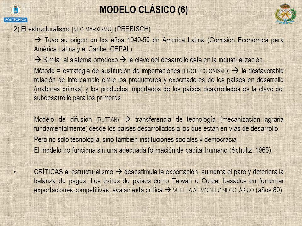 MODELO CLÁSICO (6) 2) El estructuralismo [NEO-MARXISMO] (PREBISCH)